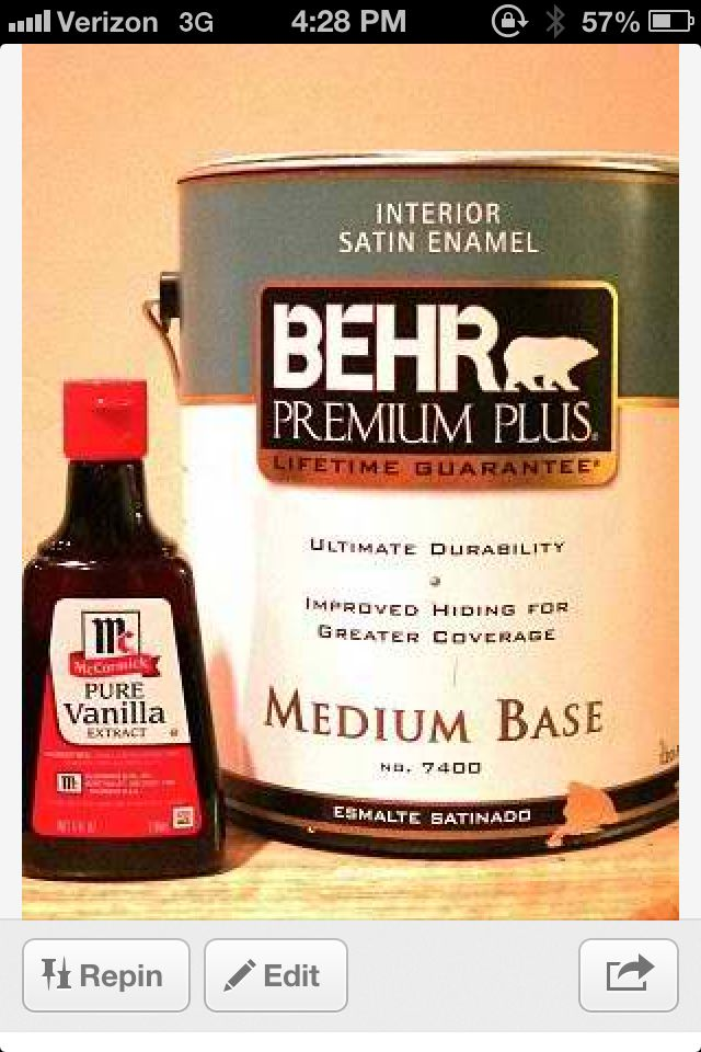 Add Vanilla To Paint To Get Rid Of Paint Fumes Diy Gallon Of
