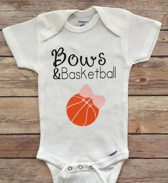 835337d3e Bows   Basketball Onesie
