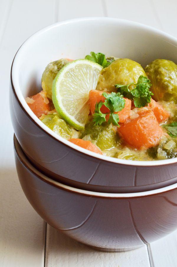 rosenkohl m hren curry mit kokosmilch und limettensaft rezepte und k chenideen pinterest. Black Bedroom Furniture Sets. Home Design Ideas