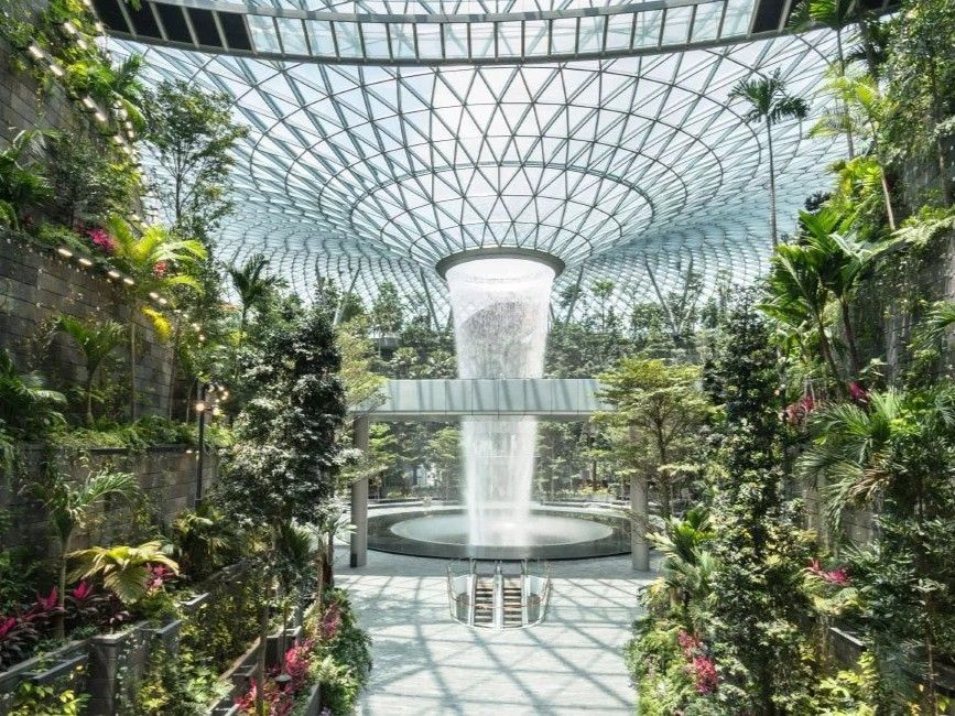 Jewel Changi Airport Prepares To Open To The Public In Singapore