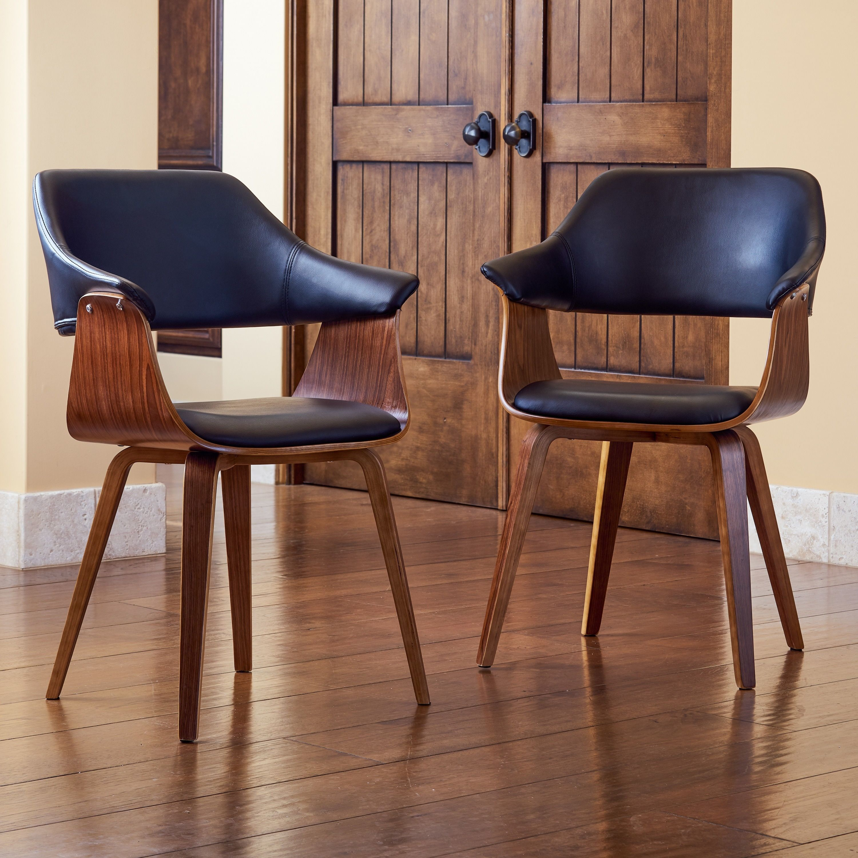 Best Corvus Norah Mid Century Modern Accent Chairs With Wood 640 x 480