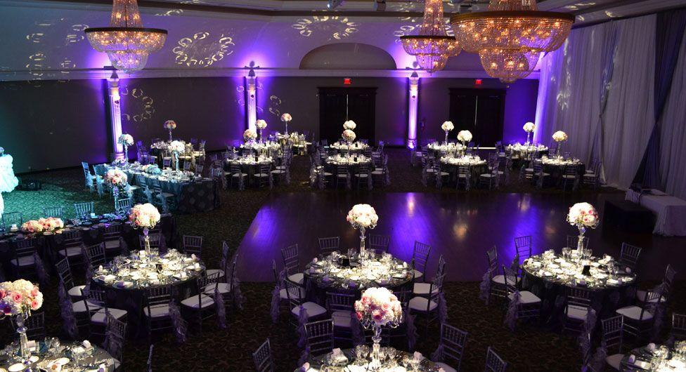 black white purple wedding reception%0A Bellvue Manor l Toronto Event Venues l Luxury Wedding