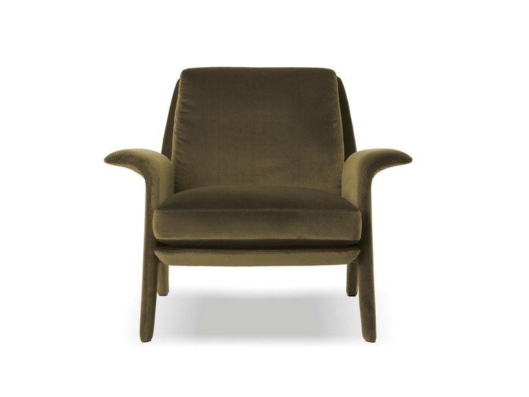 Upholstered fabric armchair with armrests Glover Collection by Minotti | design Rodolfo Dordoni