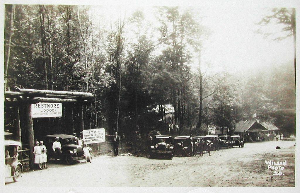 Postcard Restmore Lodge, St. Elmo, BC, c.1929 Trans