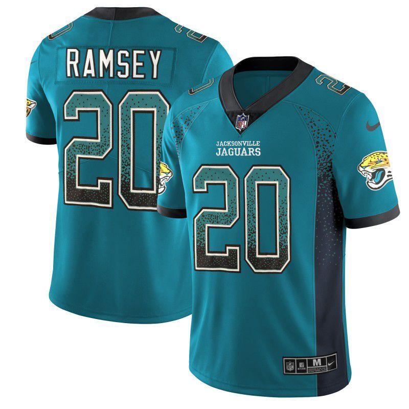 huge discount f1649 3f242 Men Jacksonville Jaguars 20 Ramsey Drift Fashion Color Rush ...