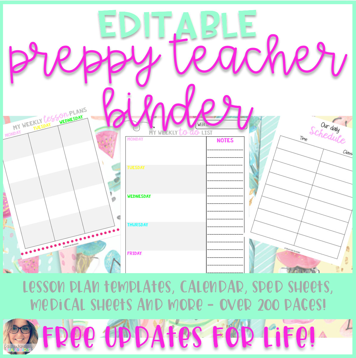 Preppy Teacher Binder - EVERYTHING YOU NEED