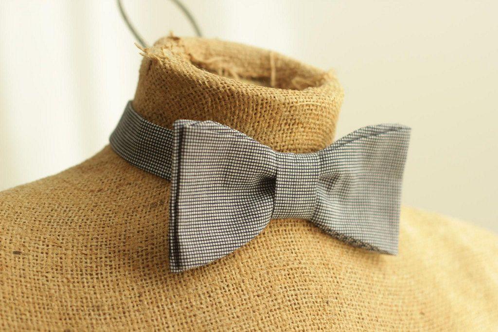 men's bowtie pattern PDF sewing DIY pattern plaid fashion formal wedding fathers day. $6.00, via Etsy.