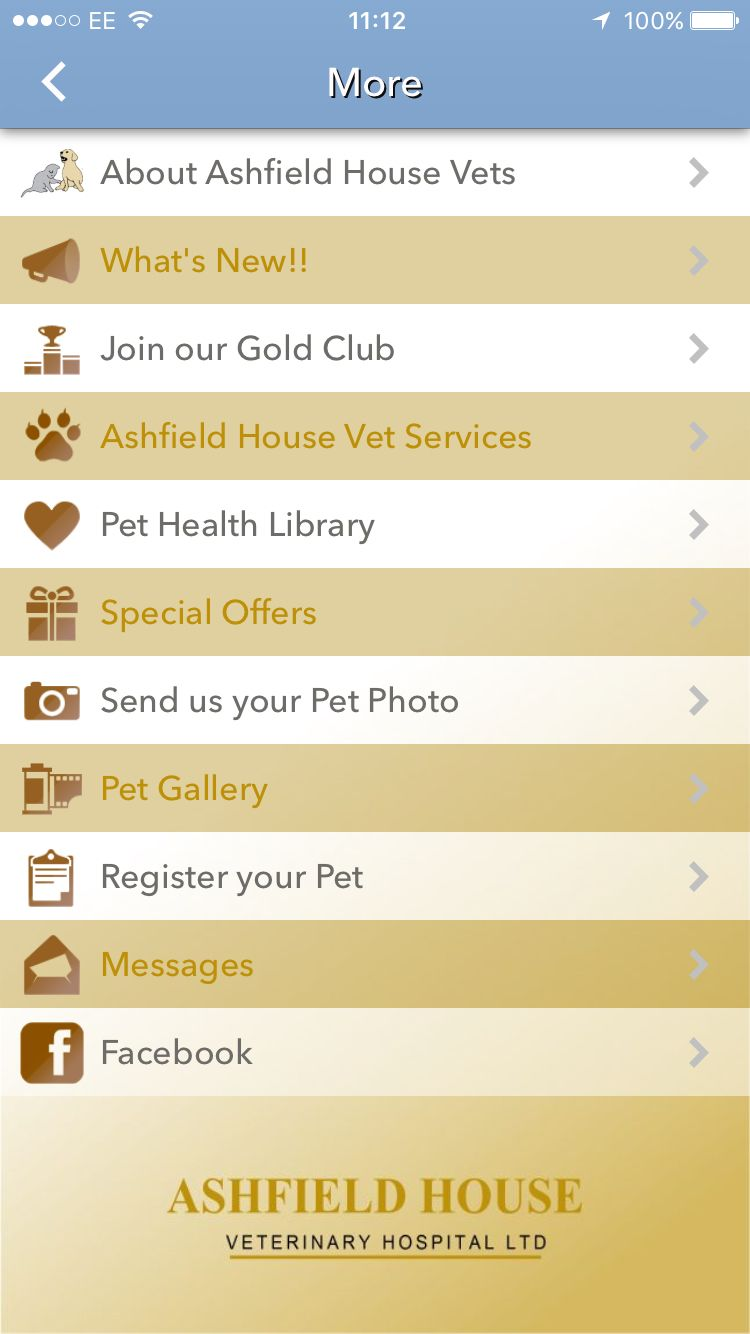Check out the App features Pet health, Health, Pets