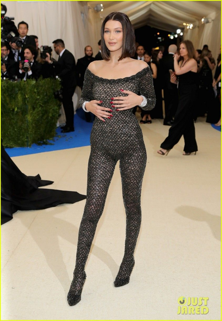 d9f8952ead6 Bella Hadid Ditches Underwear in Sexy Catsuit at Met Gala 2017