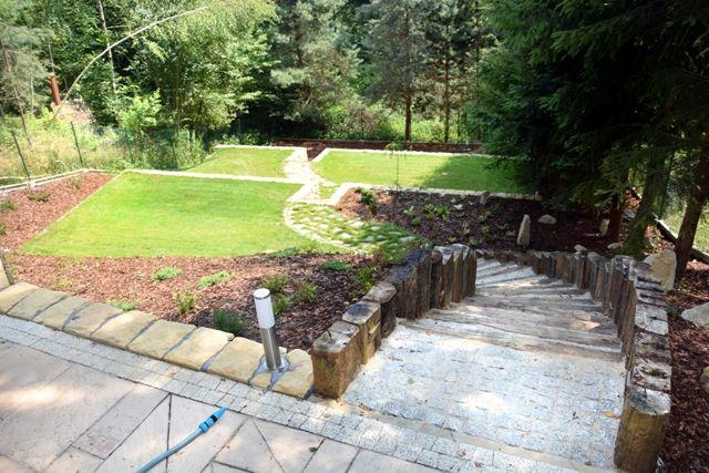 Ogród Prywatny Rożnów Projekt I Realizacja Bs Ogrody Projekty I