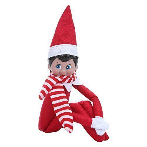 Elf On The Shelf Figure Christmas Plush Scarf Doll Red Girl Xmas