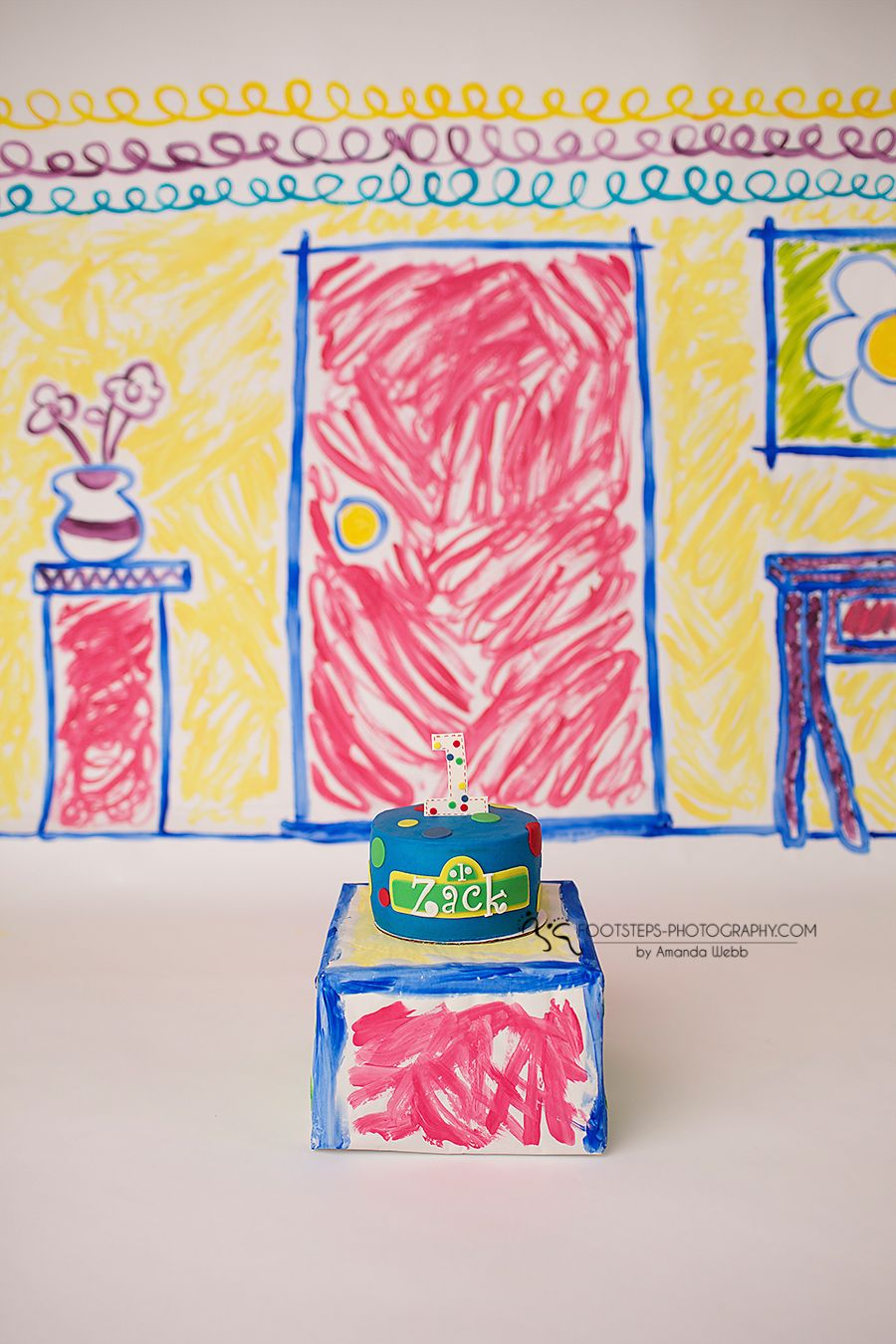 Sesame Street Smash Cake Session Footsteps Photography