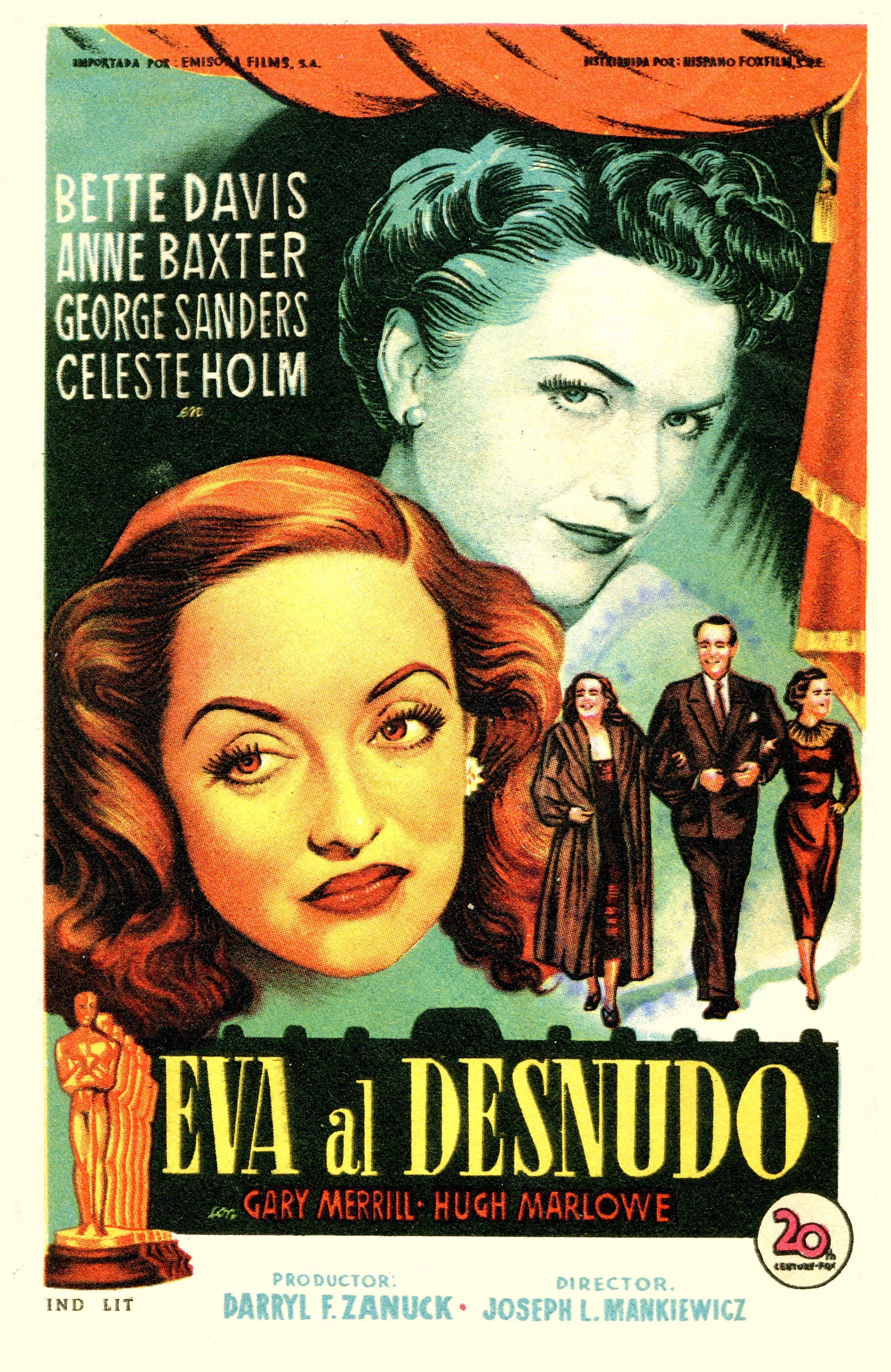 Eva Al Desnudo Vintage Poster Carteleras De Cine Cine Y
