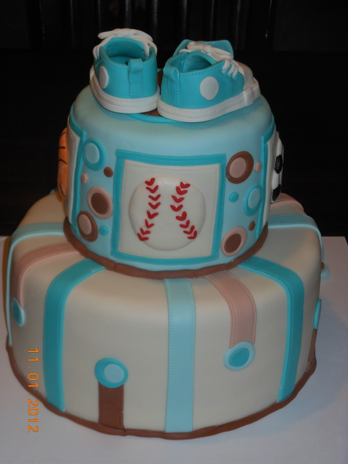baby shower cake for boy And heres close ups of some of the