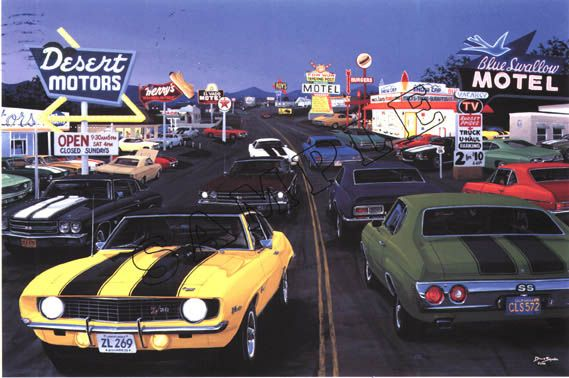Artist Signed Prints Amc Chevrolet Shelby Mopar Dodge Plymouth Ford
