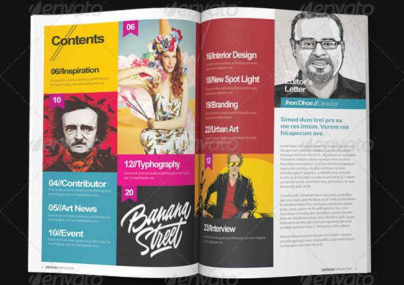 Indesign-Magazine-Template | New | Pinterest | Indesign magazine ...