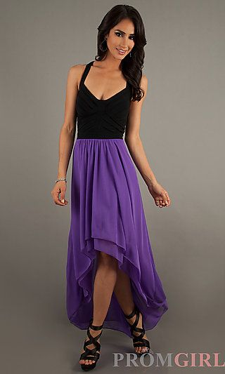 0a365670ed8 Sleeveless High Low Dress at PromGirl.com