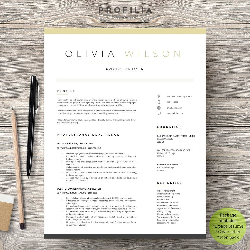 Word Resume  Cover Letter Template  Resumes    Personal