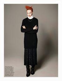 'Incendiary' Sasha Pivovarova by David Sims for Vogue Paris August 2014 1