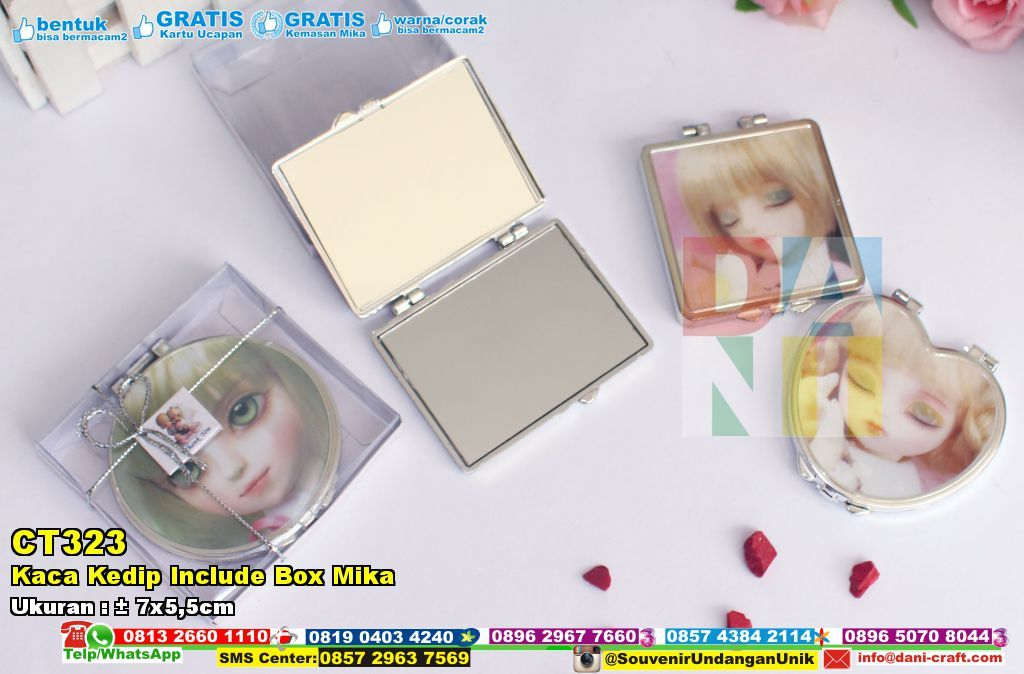 Kaca Kedip Include Box Mika Wa : 0896-7465-4330 #KacaKedip #JualKedip #SouvenirPernikahanMurah