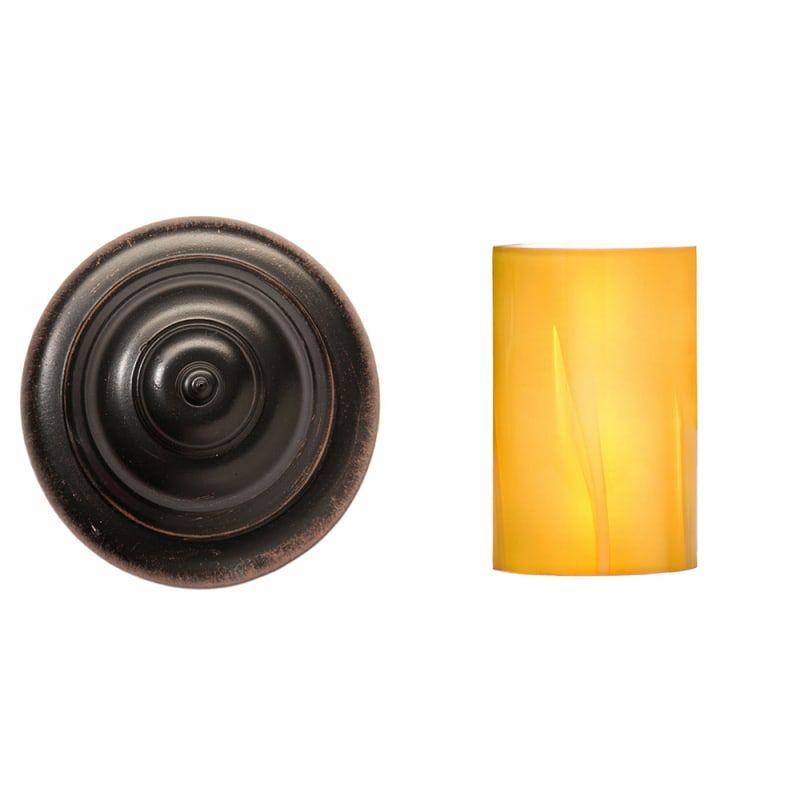 Photo of Kalco 4201 Americana 1 Light bathroom lamp Antique copper / art calcite 1502 Indoor lighting Bathroom lamps Bathroom lamp