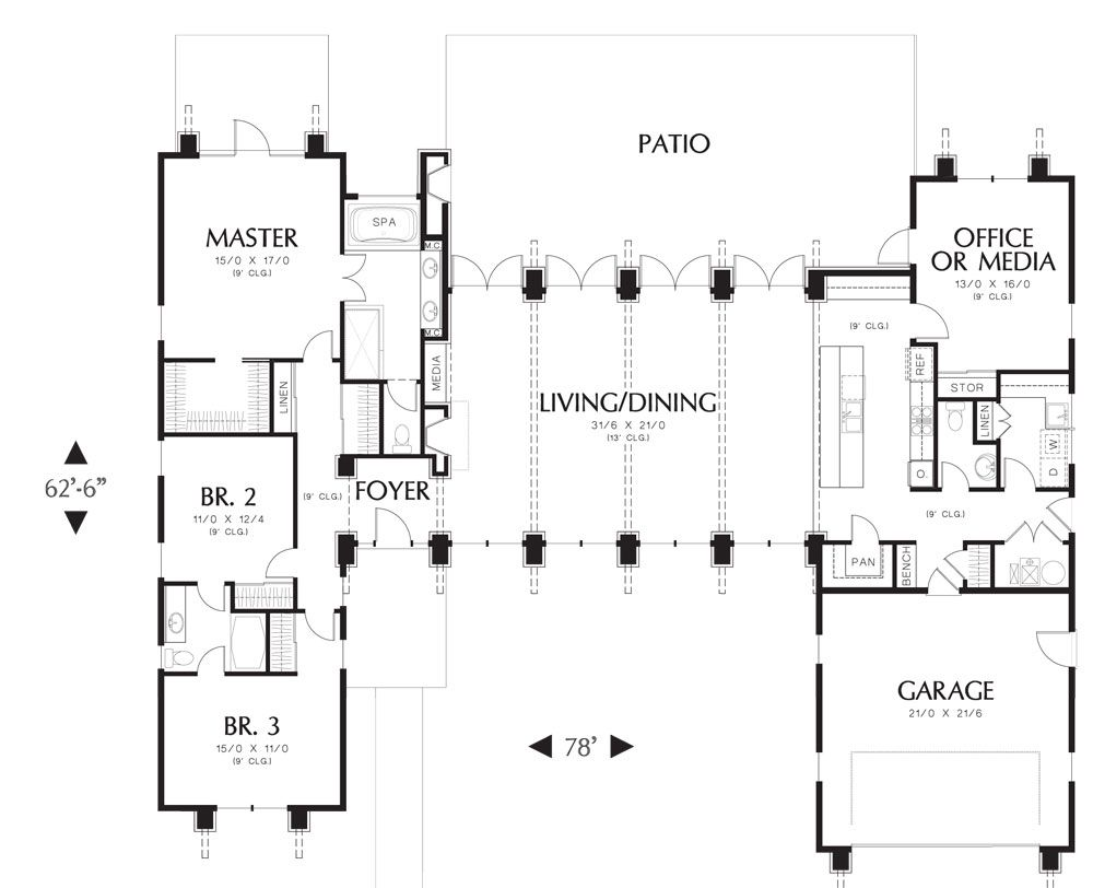 the hampton house plan 5173 4 bedrooms and 25 baths the house designers - House Designers