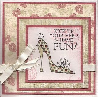 Craftychick Cards: Kick Up your heels