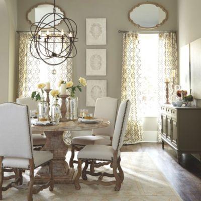 Coretta dining room · orb chandelierballard designsdining