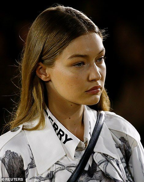 Kendall Jenner unveils her new blonde tresses at Burberry LFW show – Gigi Hadid