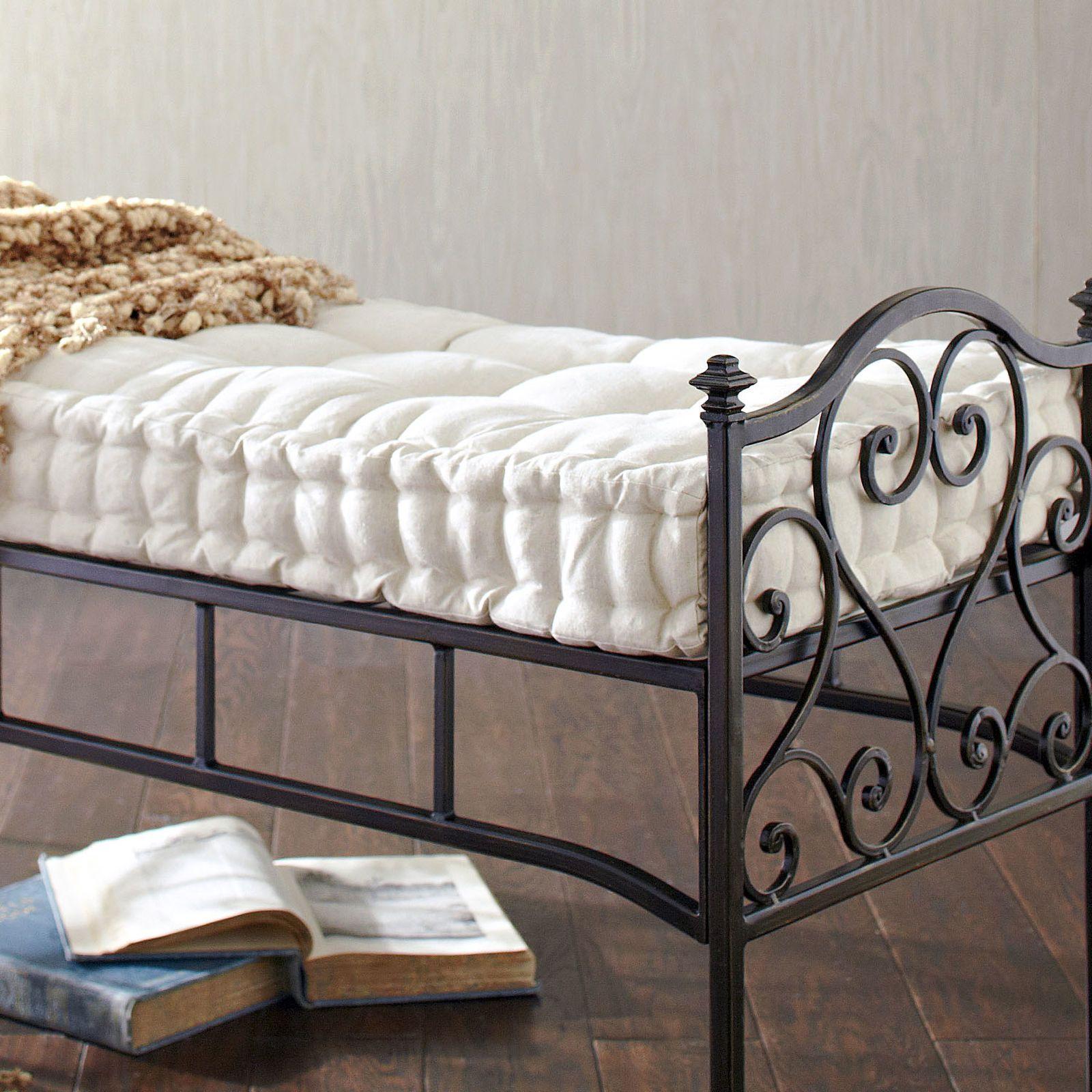 Boxed bench cushion natural bench cushions storage