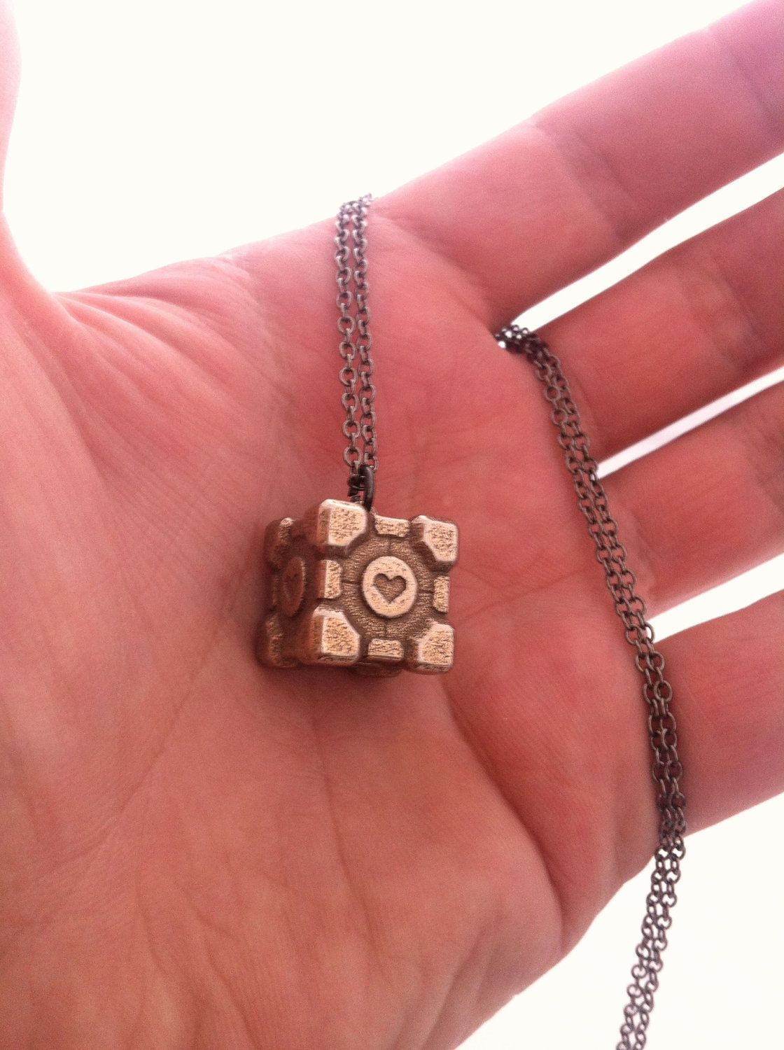 Weighted Companion Cube Pendant - Stainless Steel. $29.00, via Etsy ...