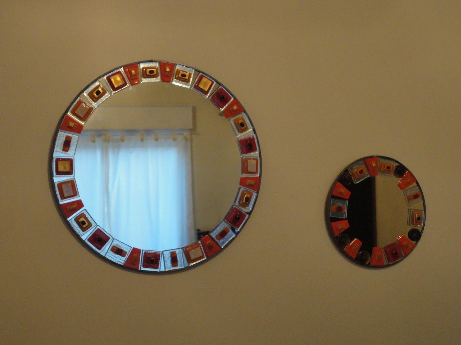 Vitrofusion espejo espejos pinterest espejos for Espejos circulares pared