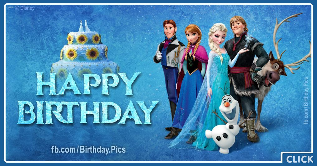 Outstanding Frozen Characters Say You Happy Birthday With Images Happy Birthday Cards Printable Benkemecafe Filternl