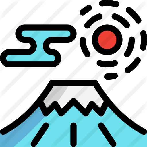 Fuji Mountain Free Vector Icons Designed By Tulpahn Fuji Mountain Vector Icon Design Japanese Logo