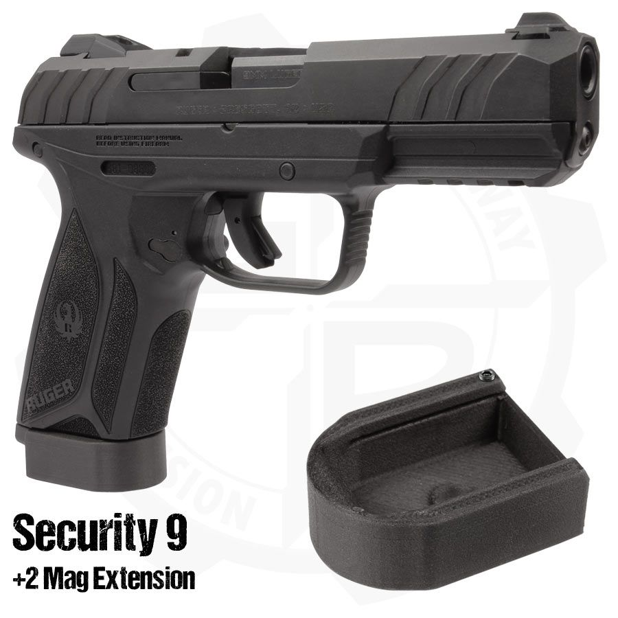 2 Magazine Extension for Ruger Security 9 15 Round Magazines | Guns