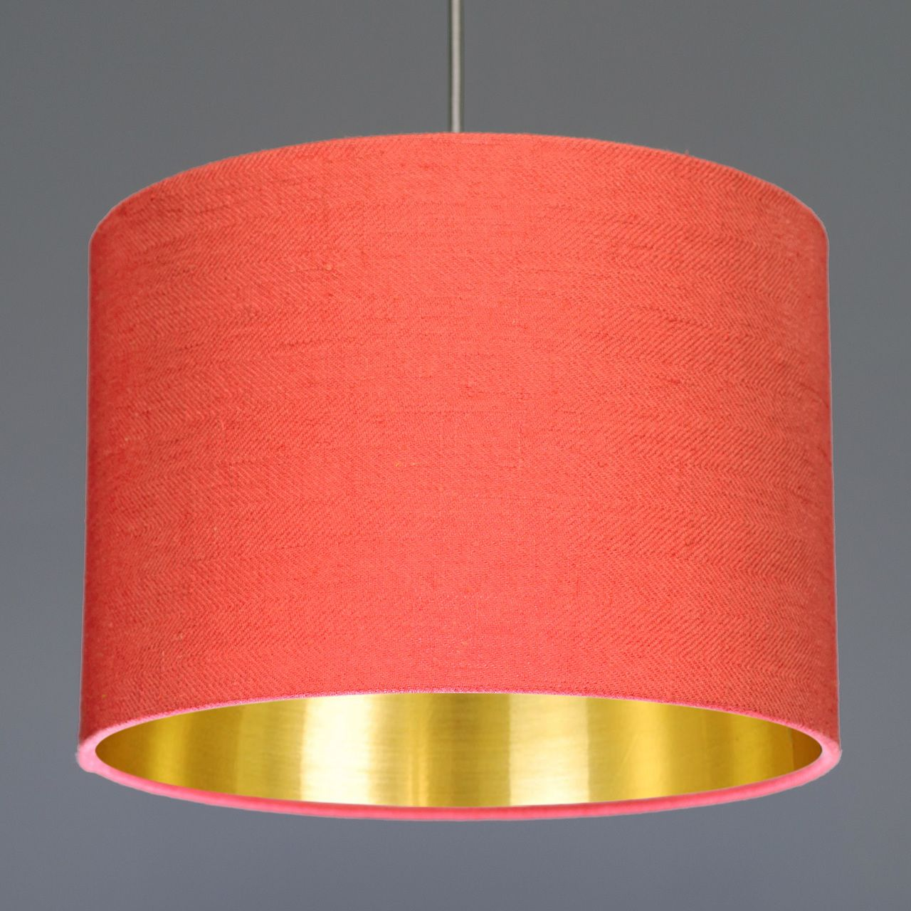 Quirk Ltd Coral Washed Linen Drum Lamp Shade With Choice Of