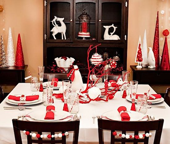 Christmas Table Decorating Ideas | ... Table Decoration Holiday Evening Meal  Space Table Decoration