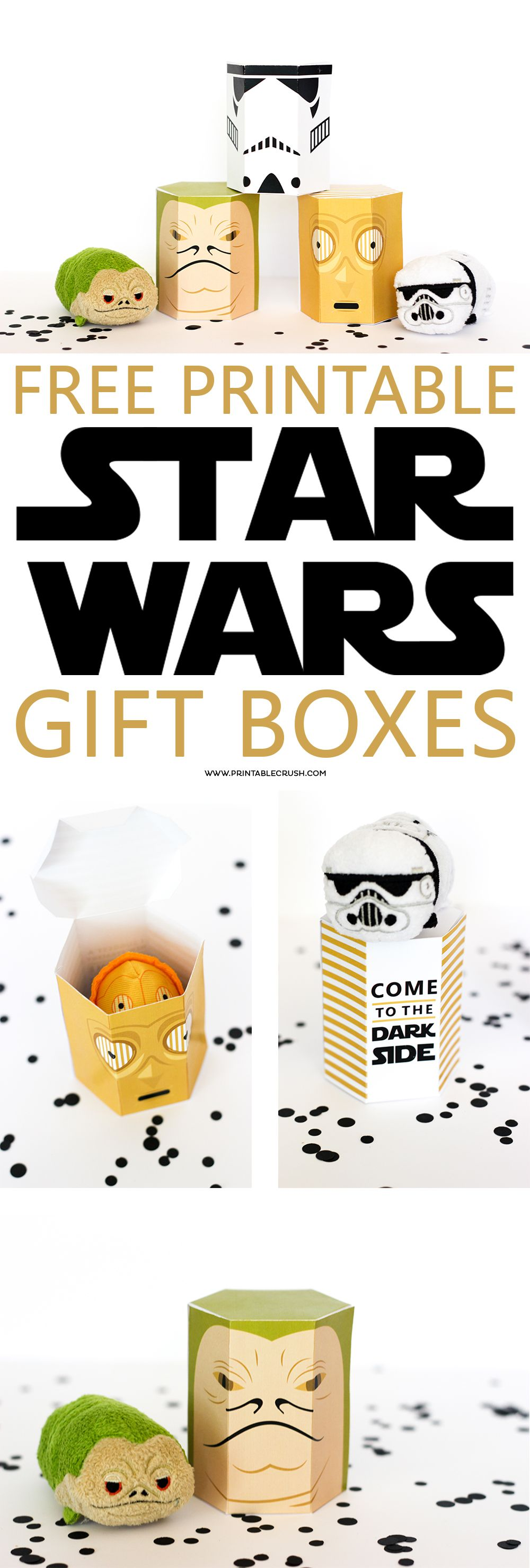 FREE Star Wars Printable Gift Boxes | Pinterest | Tsum tsums, Fans ...