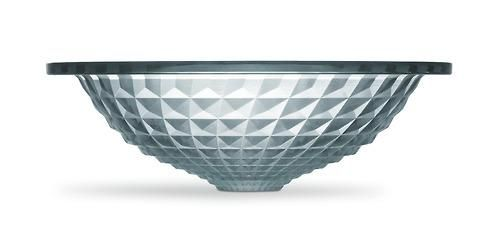 With reflective facets of cut glass, Kallos bathroom sink shines like a jewel in the bath or powder room.