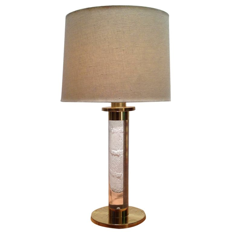 Lucite & Brass Lamp by Frederick Cooper 28h 800 | Frederick Cooper ...