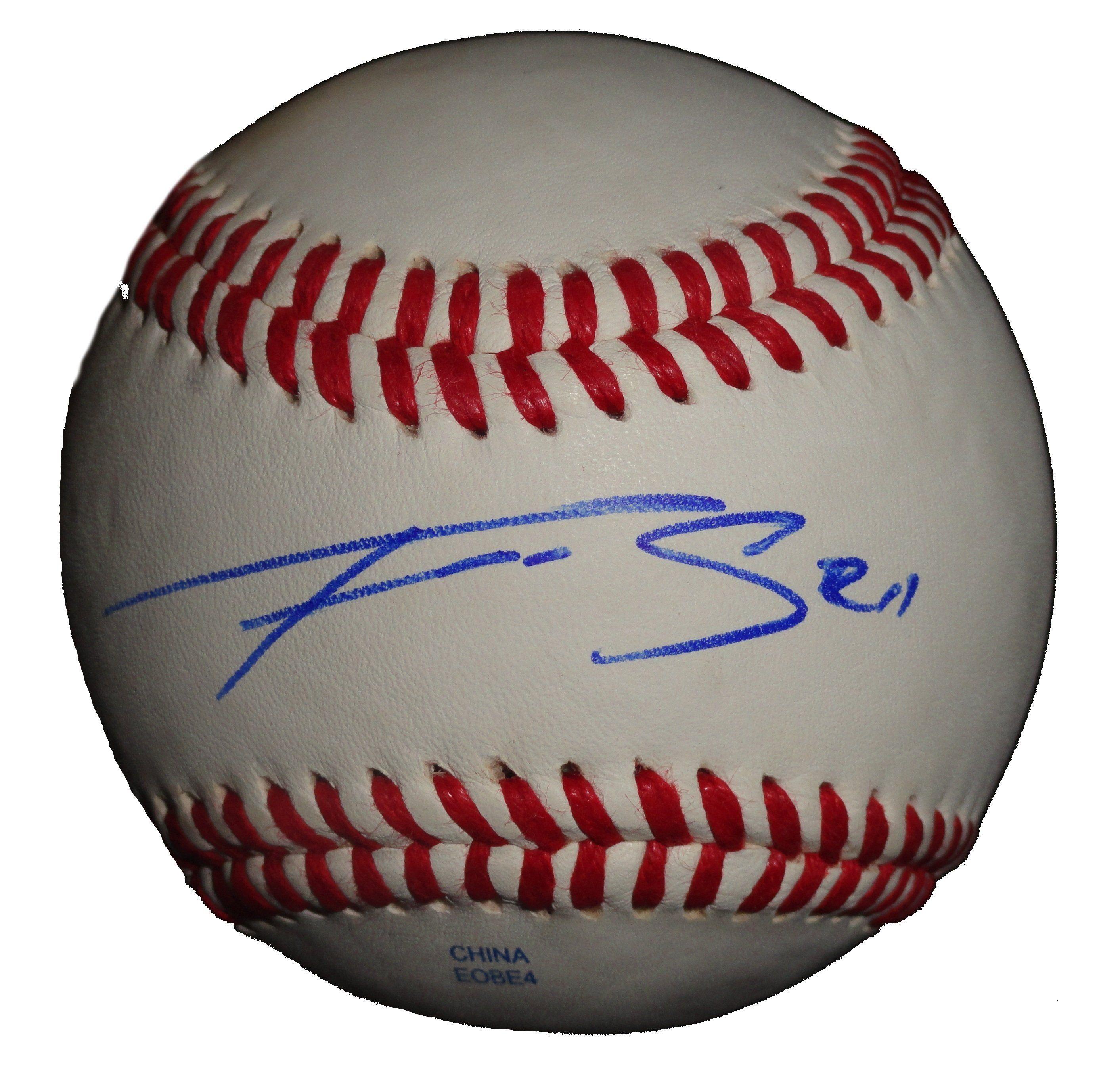 Franklin Gutierrez Autographed Rawlings ROLB1 Baseball