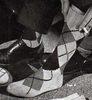 Argyll Socks for Men (With images) | Knitting socks, Free ...