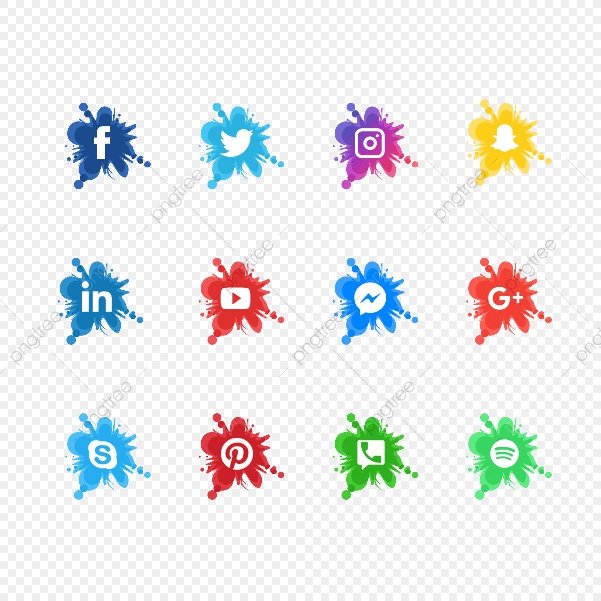 الرموز وسائل الإعلام الاجتماعية الملونة وسائل التواصل الاجتماعي شعار وسائل التواصل الاجتماعي تعيين رمز وسائل التواصل الاجتماعي Png صورة للتحميل مجانا Social Media Logos Social Media Icons Media Icon