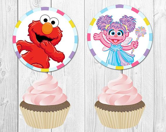 Abby Cadabby Edible Party Cupcake Topper Frosting Icing Sheet Deco 6 Circles