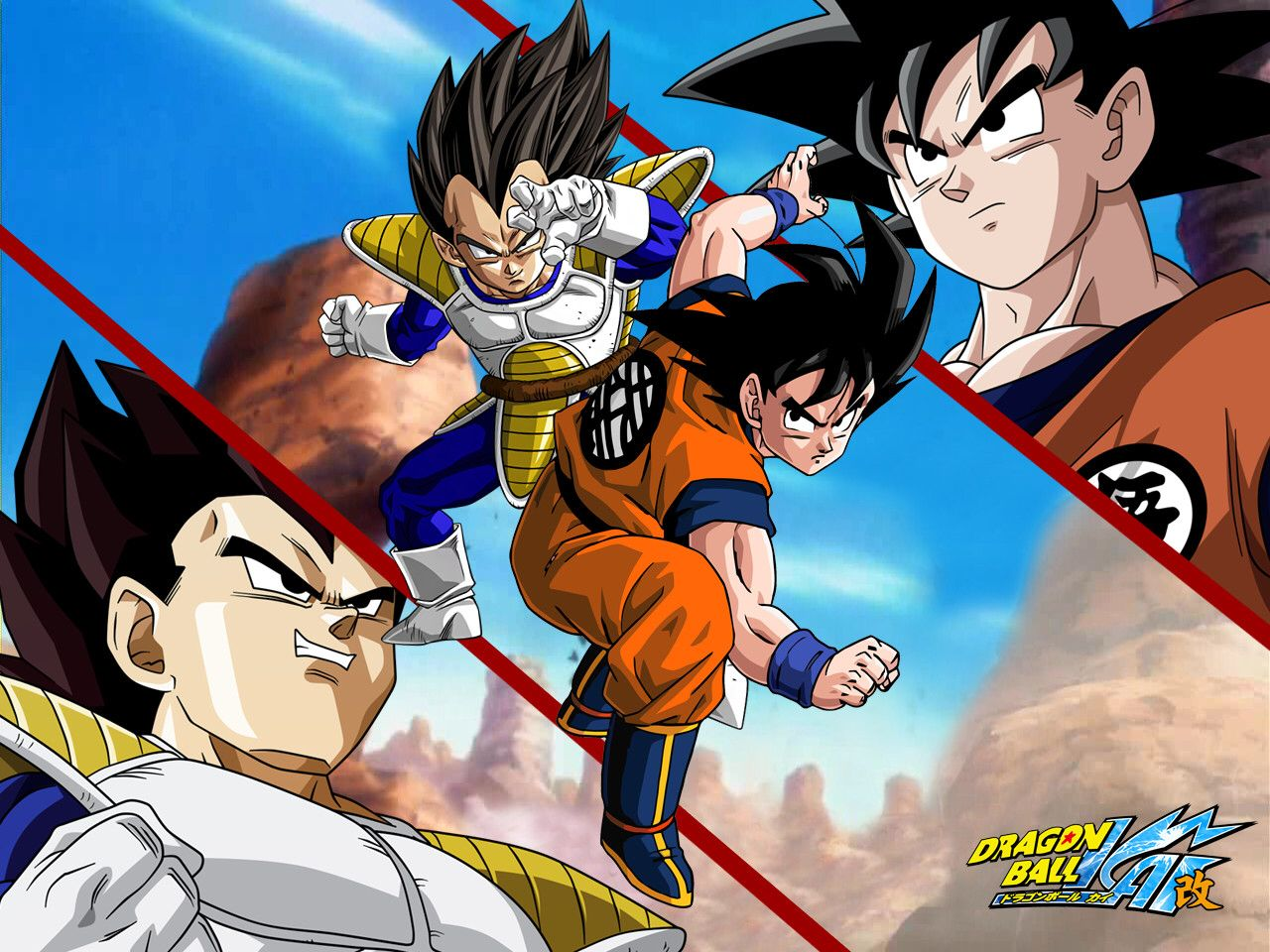 Beam Struggle 9 goku and vegeta face off! the whole scene before they