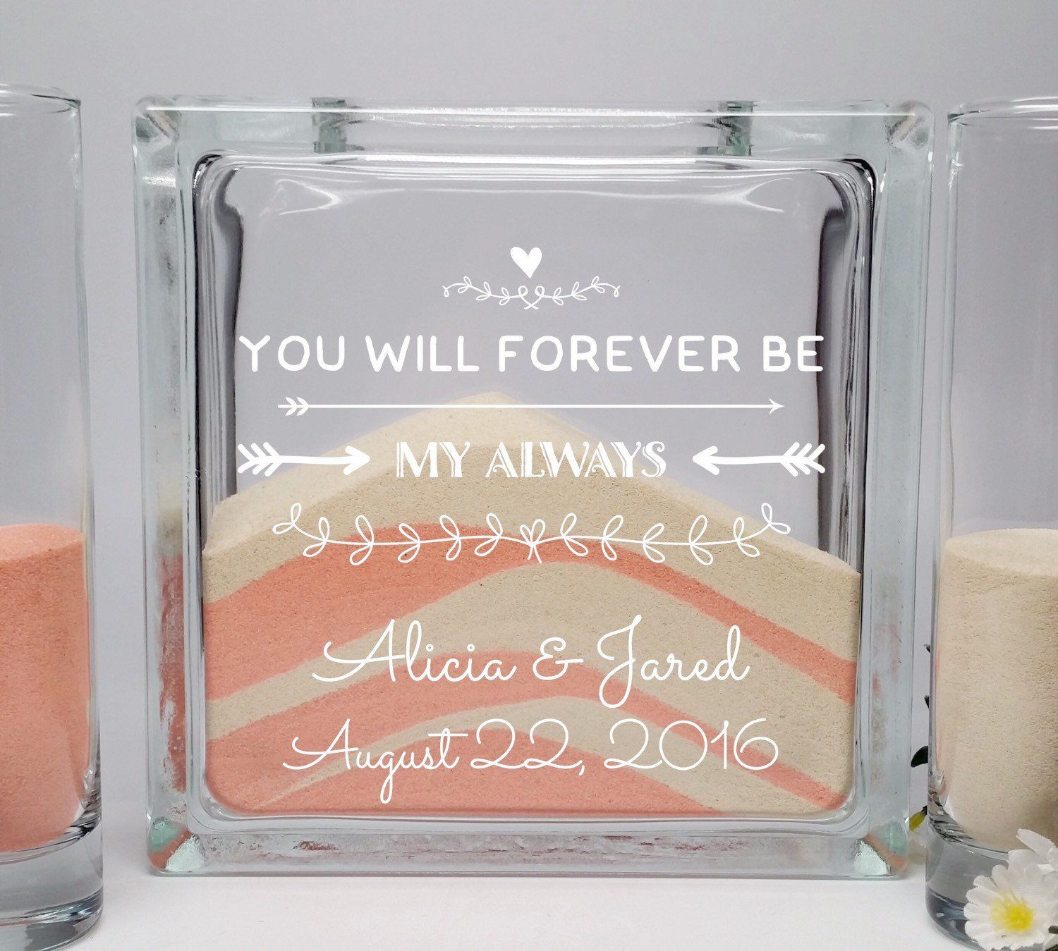 Beach Wedding Candle Ceremony: You Will Always Be My Forever