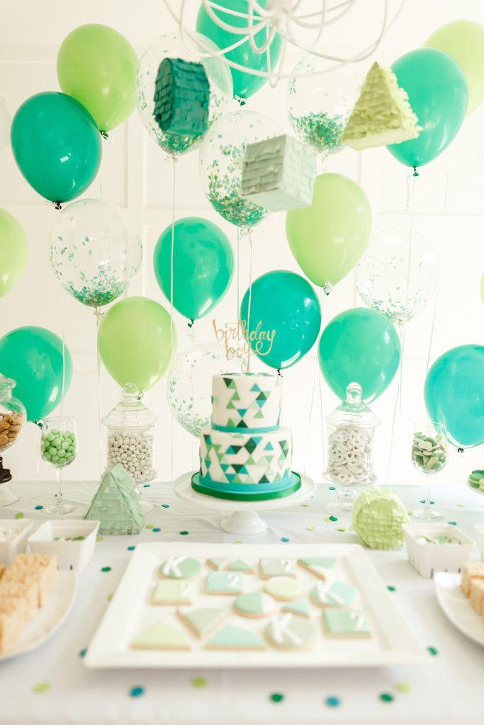 A Festive Birthday Party Green party Birthdays and Birthday boys