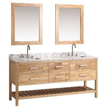 Design Element London 72 Double Bathroom Vanity Set With Open