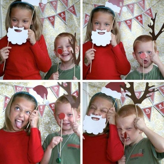 cute christmas photo booth