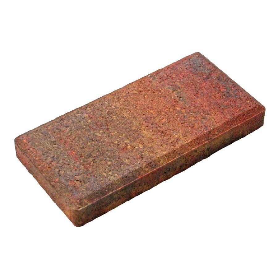 shop heritage rectangle concrete paver common 4 in x 8 on lowes paint sale today id=65567